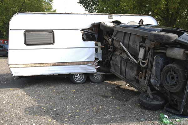 accident involving a travel trailer