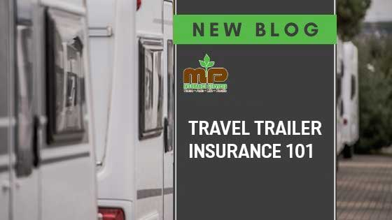travel trailers lined up in a parking lot travel trailer insurance 101