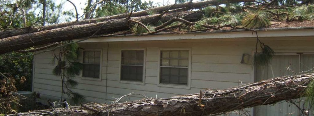damage to arkansas home from storm damage